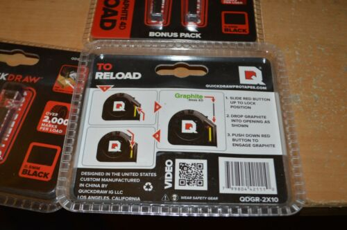 Lot of 3 Lead Graphite 20 Stick Refill Reload Pack for Quickdraw Tape Measure