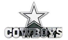 Dallas Cowboys CE Silver Chrome Color Raised Die Cut Auto Emblem Decal Football