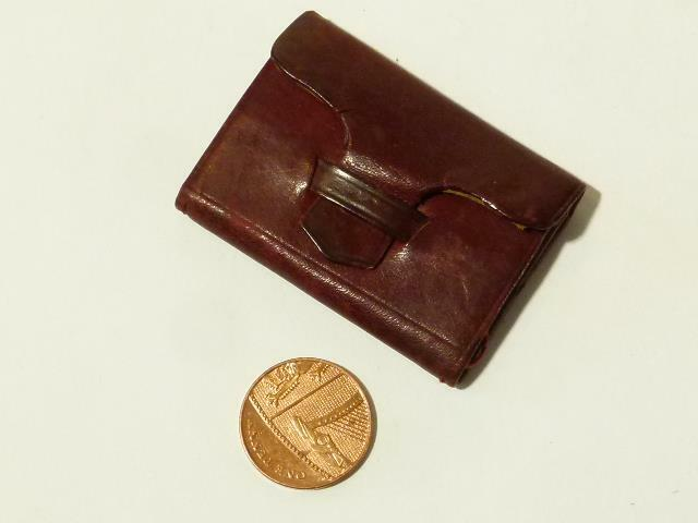 Antique c1890 Miniature Maroon Leather DOLLS Stamp Coin Purse Rambaut Rambaut Rambaut  2054B 4fceaf
