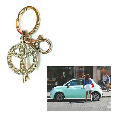 Acquista A Buon Mercato Portachiavi Della Pace Da Donna In Metallo Per Ragazza Ciondolo Auto Fiat 500 Sentirsi A Proprio Agio