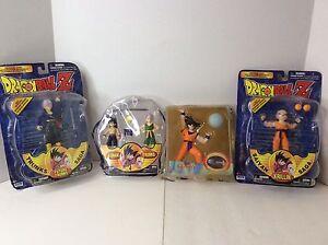 Dragon-Ball-Z-Irwin-Toys-Action-Figures-Lot-Of-4-Trunks-Krillin-Goku-Gohan-Anime