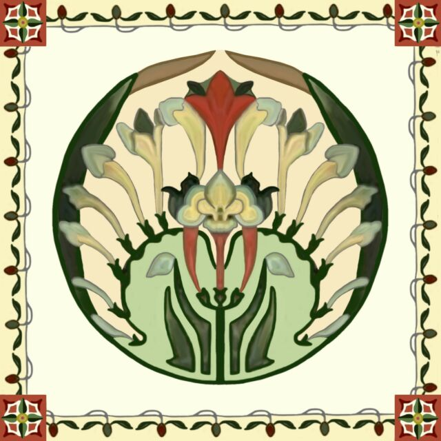 Arts & Craft Plate Tile Decorative Accent Border Ceramic Backsplash Kitchen Bath