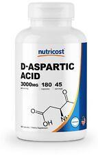 Nutricost D-Aspartic Acid Capsules 180 Pieces