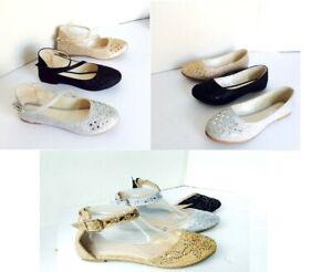 New-women-basic-round-toe-jeweled-glitter-ballet-flats-loafer-shoes