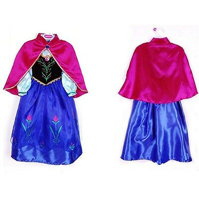 Frozen ANNA Disney inspired Dress w/ Cape Princess costume  IN STOCK  FREE SHIP
