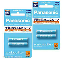 New 4 Panasonic Eneloop Lite Batteries AAA 5000 Times Rechargable Battery 550mAh