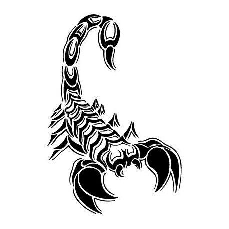 Scorpion autocollant sticker adhésif logo 2 Taille:4 cm couleur : vert foncé