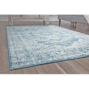 Bungalow Rose Stites Oriental Blue Area Rug - 81% Off Canada Preview
