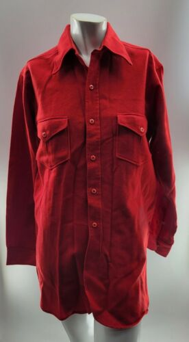 Pendleton 1930s 1940s Mens Red Vintage Wool Button