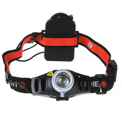 New Q5 LED Headlamp Headlight Torch Zoomable 500LM Ultra Bright High/Flash 0XD9