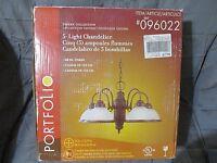 Portfolio 5-light Chandelier Tavern Collection 096022 Aged Antique Bronze