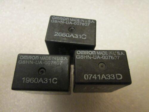 QTY 3 Multi-purpose Omron Honda Relay G8HN-UA-007607