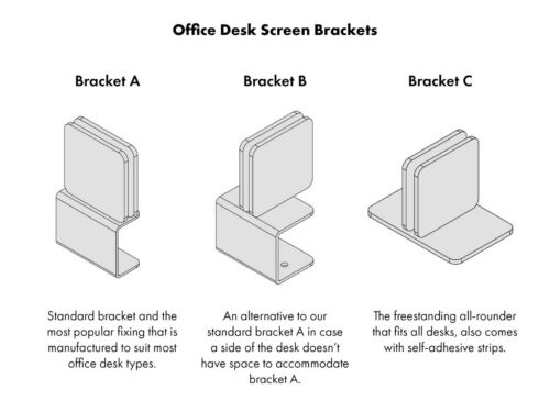 Office Desk Screen Personal Protection 5mm Polycarbonate Work Desk Screen