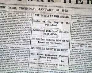 BATTLE-OF-MILL-SPRINGS-Kentucky-Gen-George-H-Thomas-1862-Civil-War-Newspaper