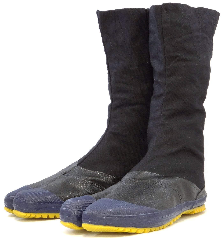 Japanisch Rikio Jika Tabi Stiefel Ninja Schuhe Hoch Cut Schwarz 12 Kohaze JH12