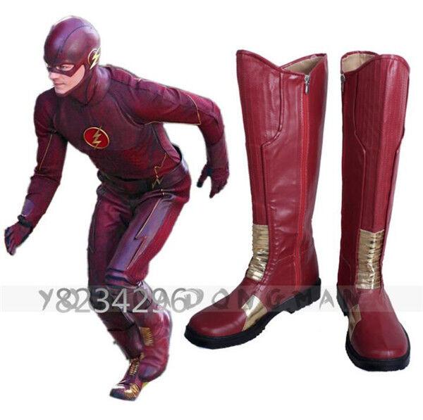 The Flash Season II Barry Allen Cosplay Super Hero Stiefel Schuhe Boots