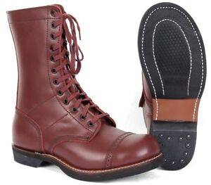 385442c2fe727 US Army Paratrooper Jump Boots - WW2 Repro American Leather Shoes ...