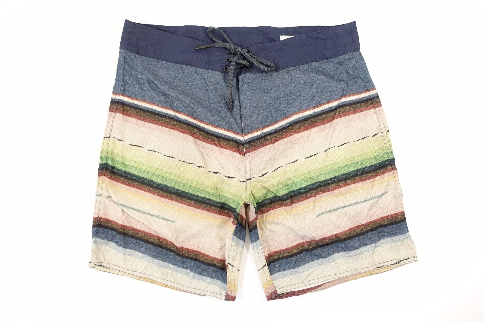 OUTERKOWN ECONYL EVOLUTION TRUNK STRIPED blueE 30 SWIM SURF BOARD SHORTS MENS NWT