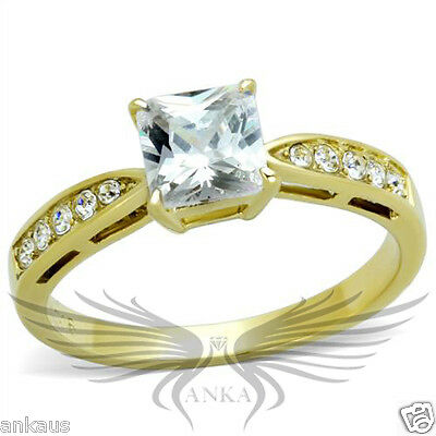 Brilliant 1.2c Princess Cubic Zircon CZ AAA Engagement Ring 5 6 7 8 9 10 TK1873