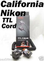 I-TTL Off Camera Hot Shoe Flash Sync Cable Cord Speedlight Nikon SC-28 DSLR TTL