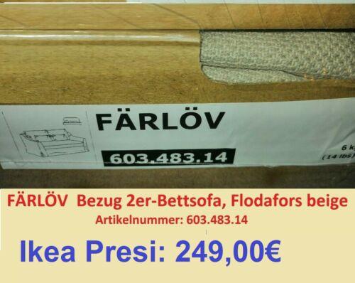 Färlöv Sofa Bezug 2er Bettsofa Flodafors Beige 603.483.14 Neu OVP