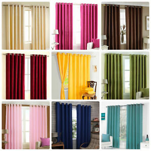 S-A-Collection-Solid-Ready-Made-Window-Door-Long-Door-Curtains-Set-of-2