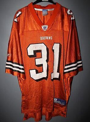 CLEVELAND BROWNS #31 GREEN JERSEY ORANGE REEBOK NFL FOOTBALL SHIRT SIZE M | eBay