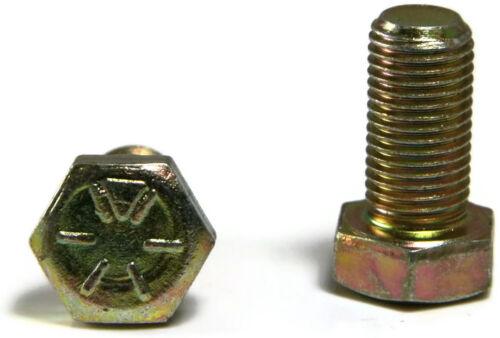 Hex Cap Screw Grade 8 Hex Bolt Yellow Zinc - 7/16-14 x 1-1/4 FT - Qty-25