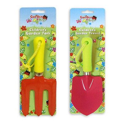 Childrens Garden Bugs Junior Kids Tools Hand Fork and Hand Trowel
