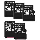 KINGSTON CLASS10 80MB/s micro SD SDHC SDXC 128GB 64GB 32GB 16GB 8GB UHS Card LOT