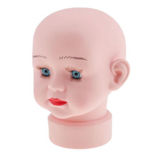 """7/"""" Child Manikin Head Children Mannequin Kids Hair Wig Cap Hat Stand Display"""