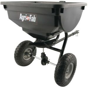 Details about Agri-Fab Lawn Fertilizer Spreader Pull Tow Behind Grass Seed  Salt Broadcast