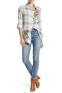 NEW-Lucky-Brand-Sz-32-14-Bridgette-Skinny-Crop-Ankle-Jeans-Distressed-High-Waist