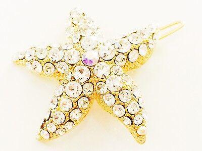 MINI Hair Claw Clip Rhinestone Crystal Hairpin Bridal Wedding Flower Yellow 05