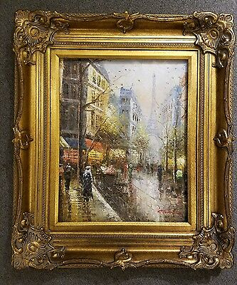 5-034-WIDE-Antique-Gold-Leaf-Ornate-photo-Oil-Painting-Wood-Picture-Frame-801G