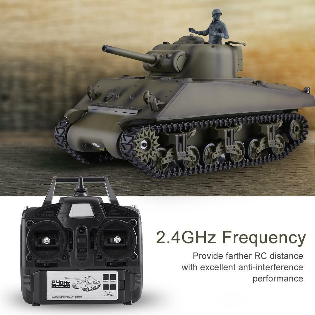 Heng lungo Radio Remote Control  RC 2.4G Tank M4A3 SHERuomo 1 16 with 2 suonos RTR  essere molto richiesto