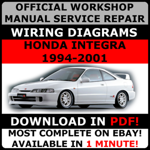 official workshop service repair manual honda integra 1994 2001 rh ebay co uk honda integra service manual pdf honda integra service manual