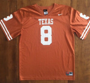 new style 93287 d06a6 Details about Mens NIKE TEAM FOOTBALL JERSEY University of Texas Longhorns  Number 8 SIZE XL 20