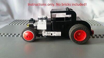 Custom Lego Instructions Hot Rod Rat Rod Model A Sedan 28 29 30 31 Ford