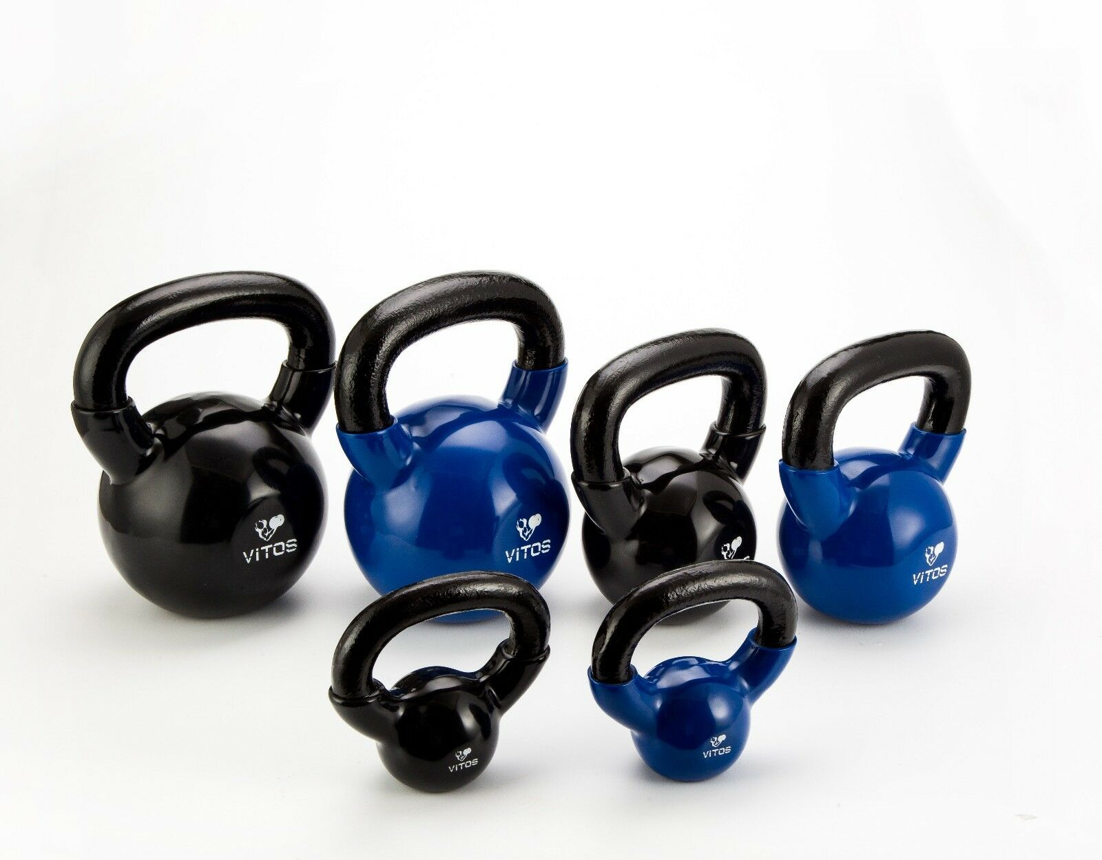 Vitos Fitness Vinyl Coated Kettlebell Weights