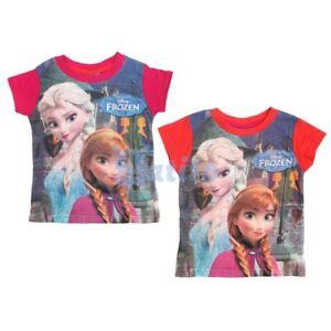 FROZEN-Camiseta-Algodon-Anna-Elsa-Nueva-Camiseta-Oficial-Original-Disney-Nuevo