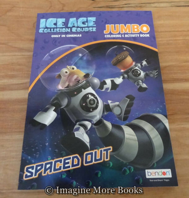 Ice Age Jumbo Coloring & Activity Book Color 3 Collision Course ...