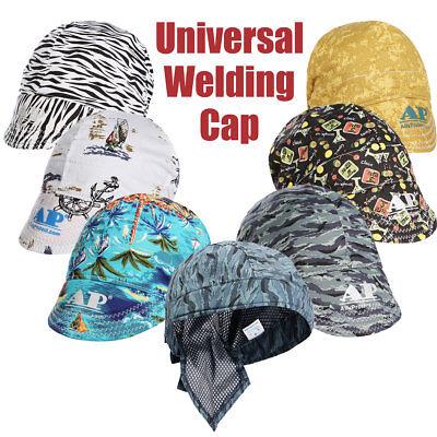 Universal Washable Sweat Absorption Elastic Welding Welder Hat Cap Cotton #1