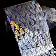 1Pc Holographic Nail Art Foils Wraps Fish Scale Wave Line Transfer Sticker Paper