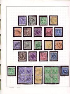US - + zona britannica 1945 - 1949 ** + Gest. con molte varianti