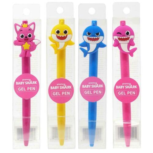 Pinkfong Baby Shark officiel Gel Pen Set 4-Pack Licence Officielle Cadeau