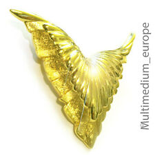 Christian DIOR COUTURE SPILLA dorato ala pin brooch vale SIGNED Wings