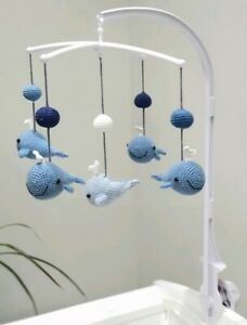 Details About Baby Cot Mobiles Whale Crib Mobile Blue Nursery Decor Boy