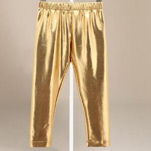 Baby Toddler Children Boy Girls Shiny Solid Gold Pants ...