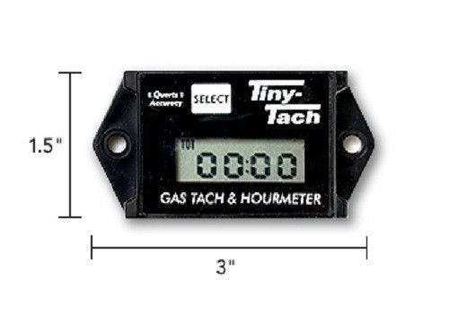2 Tachometer /& Service Reminder New DIGITAL Commercial TINY TACH Hour Meter